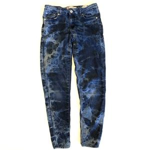 Levis 710 Super Skinny acid wash stretch Girl 14 R